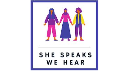 She Speaks We Hear